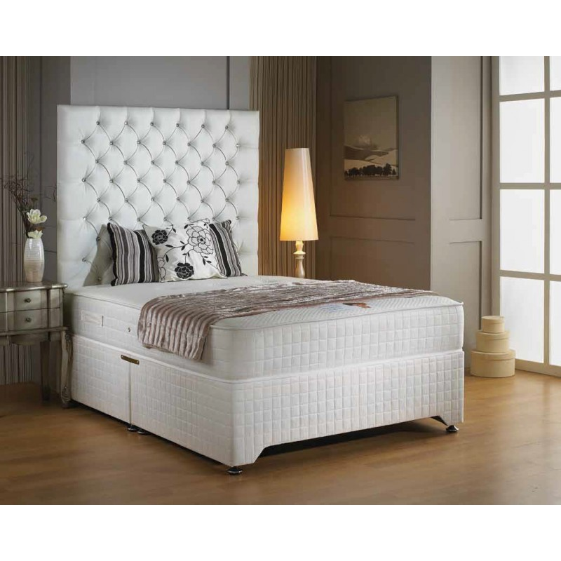 Luxury kensington memory divan bed 4 39 6 double 4 39 6 for 4 6 divan beds