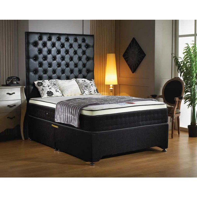 Luxury buckingham memory pocket supreme divan bed 3 39 for Luxury divan beds