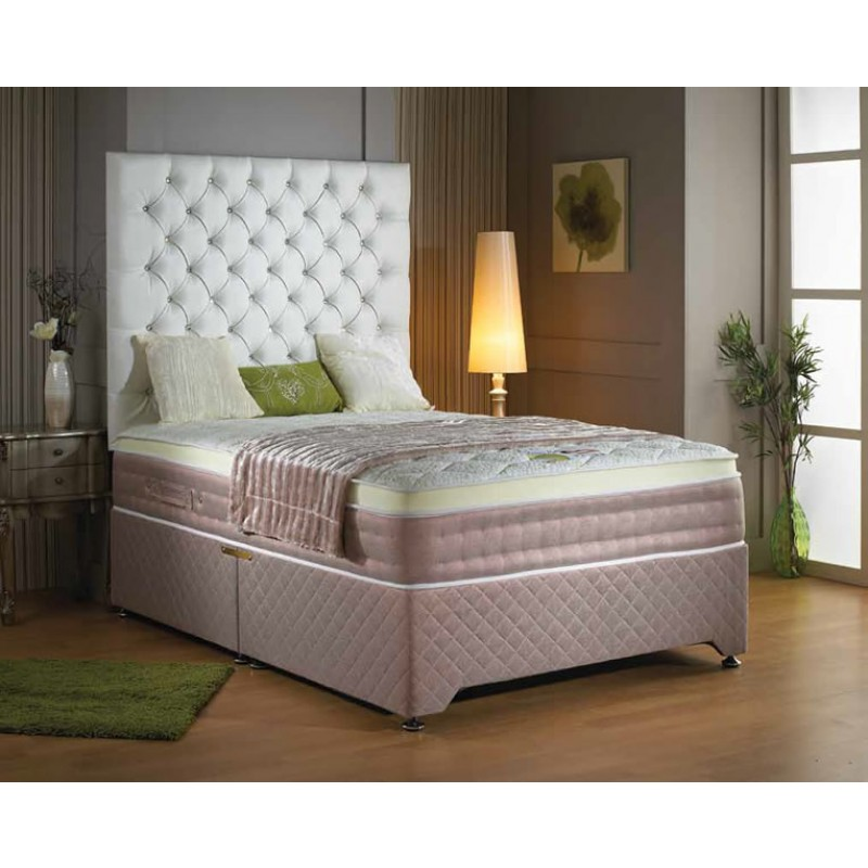 Luxury sommerset memory pocket deluxe divan bed 5 for Luxury divan beds
