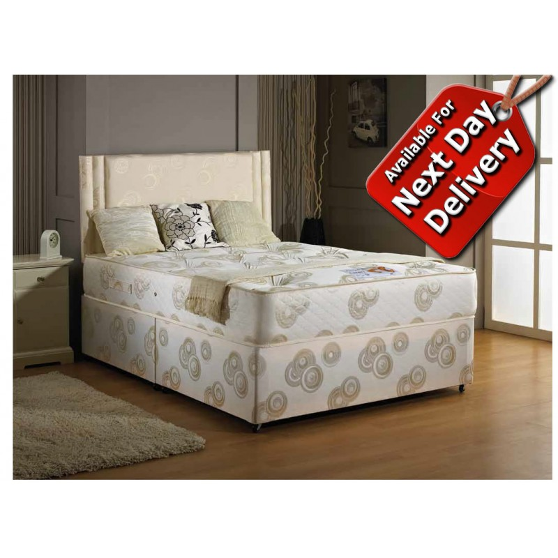 Luxury ascot orthopaedic divan bed single 3 39 for Single divan bed size