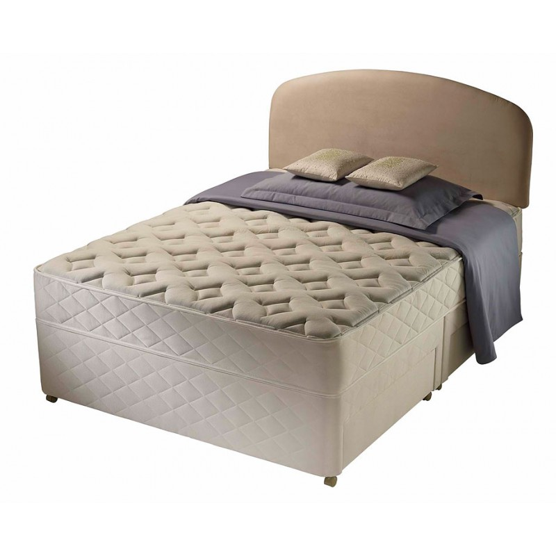 Silentnight winchester divan bed double 4 39 6 double for Double divan bed no headboard