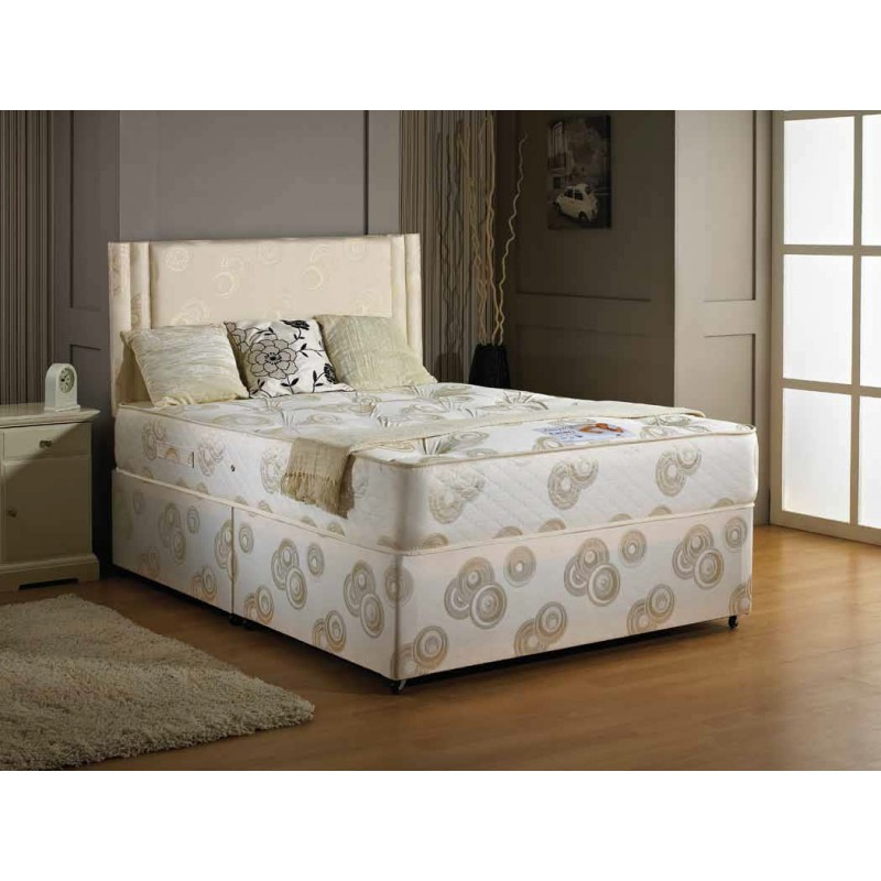 Luxury ascot orthopaedic king size divan bed 5 39 king for King size divan bed no mattress