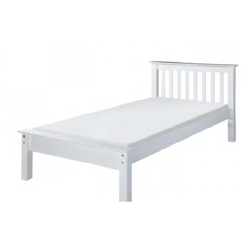 Jordan White Bed Frame - Small Double (4') - Small Double ...
