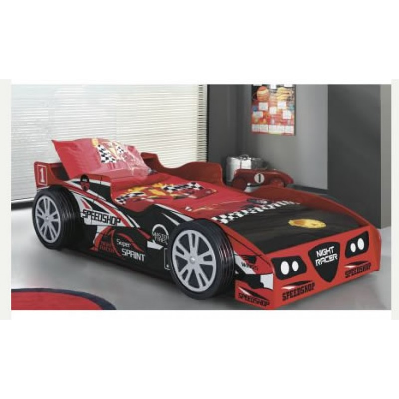 Electric Beds Ni : Kids red night racer bed