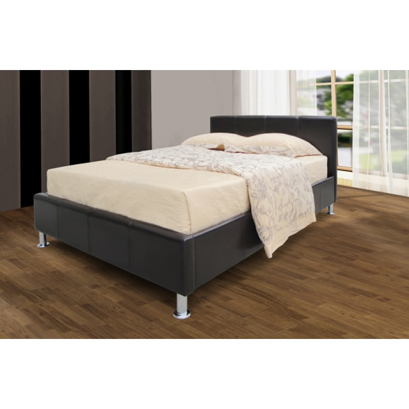 Pu Brown Leather Bed Dublin