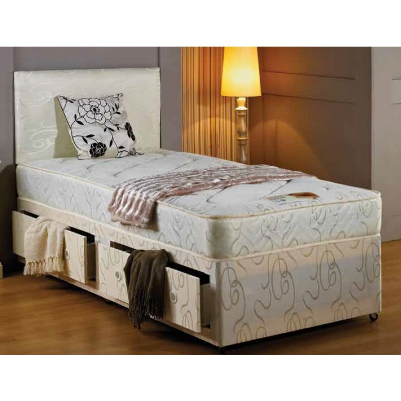 Mayfair divan bed small single 2 39 6 39 39 for Small single divan bed