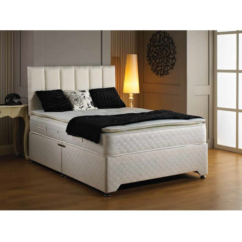 Luxury oxford pillow top divan bed 4 39 for Luxury divan beds