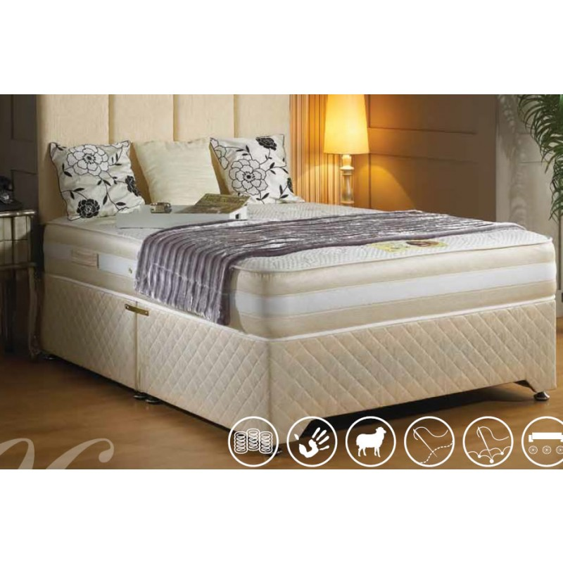 Luxury sandringham memory pocket divan bed 4 39 6 for 4 6 divan beds