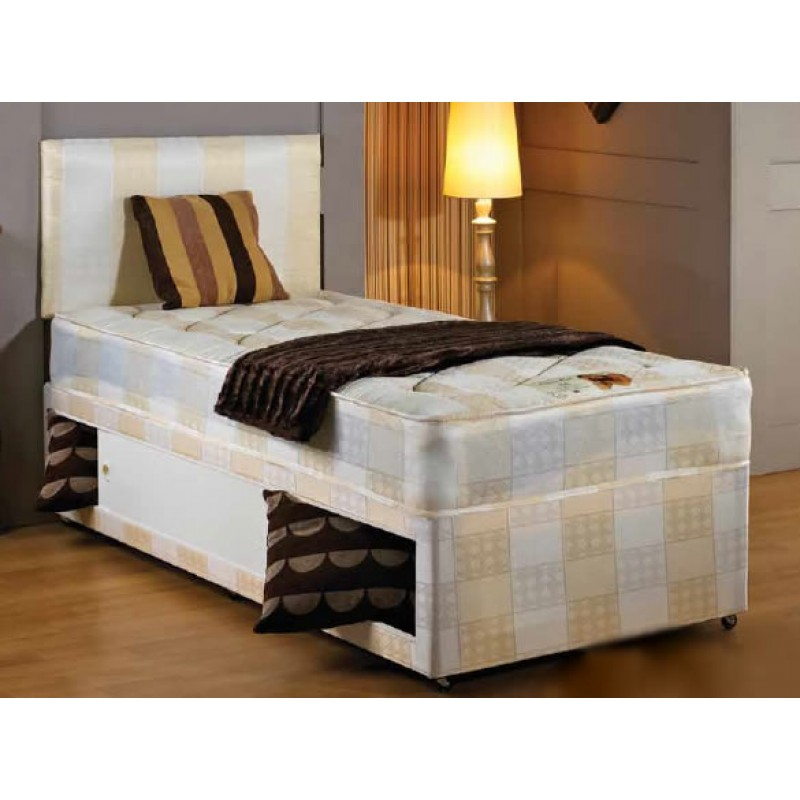 York 4 39 6 double bed divan for Double divan bed no headboard