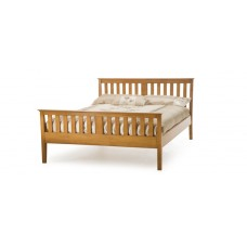 Carmen High End Bed Cherry Frame - Double (4'6'')