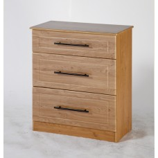 Mya Oak 3 Drawer Deep Chest