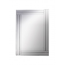 Silver Finish Metal Mirror - 8008