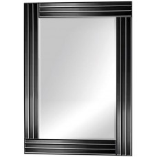 Black Finish Metal Mirror - 8008BK