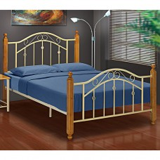Virginia Cream Metal Bed Frame - Single (3')