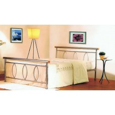 Alice - Silver Metal Bed (3')