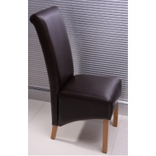 Lucy Collection - Brown Leather Chair