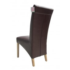 Windsor Collection - Brown Leather Chair