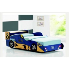 Kids F1 Blue Racing Car Bed