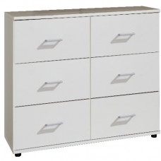 Davos - 6 Drawer Chest White