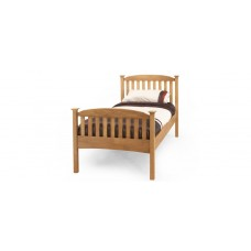 Eleanor High End Honey Oak Bed - Single (3')