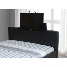 Galactic PU Leather TV Bed Black / Brown  - (6')