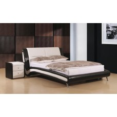 Holborn PU Leather Bed Black / White  - (5')