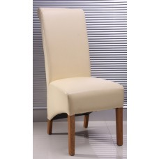 Lucy Collection - Ivory Leather Chair