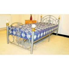 "Juliana - Black or White Metal Bed (4'6"")"