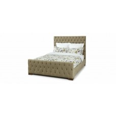Lillian Upholstered Bed (Steel, Pearl, Fudge (5')