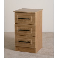 Mya Oak 3 Drawer Locker