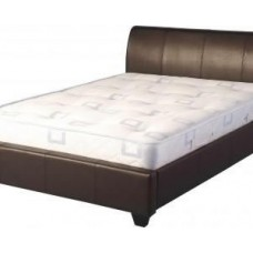 Palermo PU Leather Bed Black / Brown  - (4'6)