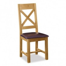 Salisbury Cross Back Chair with PU Seat