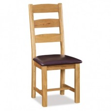 Salisbury Slatted Chair with PU Seat