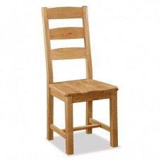 Salisbury Slatted Chair with Wooden Seat