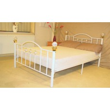 "Skyline - Black or White Metal Bed (4'6"")"