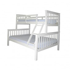 Triple White Bunk Bed