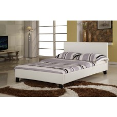 Harmony Venice Leather Bed - Black / Brown / White (4')