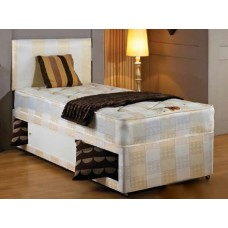 York Single Divan Bed - (3')